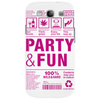 packaging label party & fun get drunk think green enjoy your life party hard Phone Case
