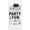 packaging label party & fun get drunk think green enjoy your life Phone Case