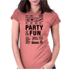 packaging label party & fun get drunk think green enjoy your life Womens Fitted T-Shirt
