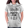 packaging label party & fun get drunk think green enjoy your life Womens Polo