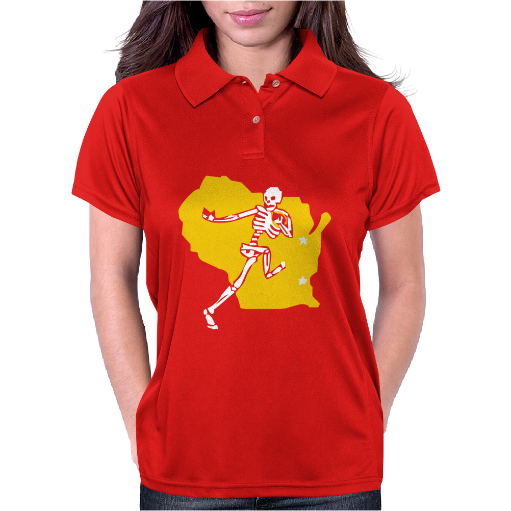 Packers Wisconsin Skull Womens Polo