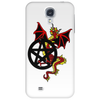 Pagan Pentacle and Dragon Phone Case