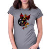 Pagan Pentacle and Dragon Womens Fitted T-Shirt