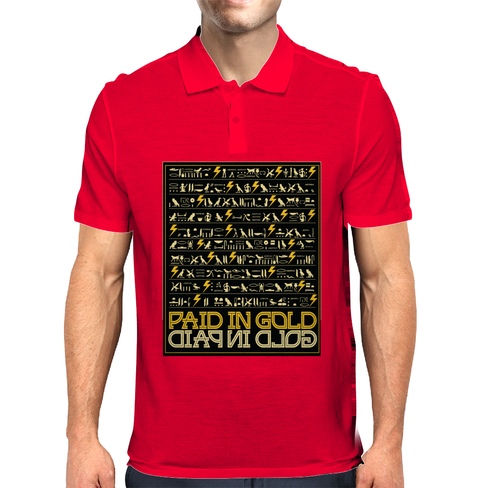 Paid In Gold Heiroglyphs Mens Polo