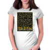Paid In Gold Heiroglyphs Womens Fitted T-Shirt