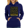 Paid In Gold Heiroglyphs Womens Hoodie