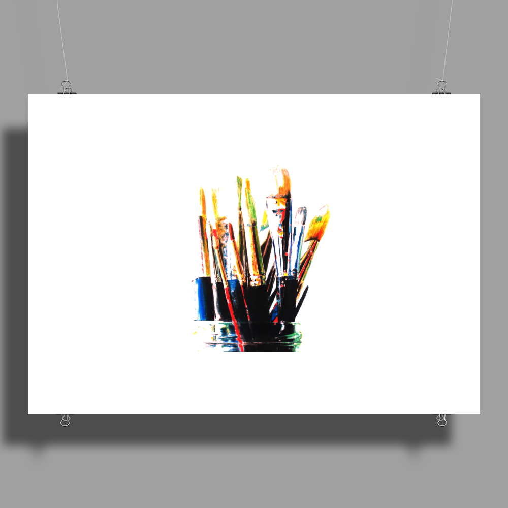 paint brushes 1 Poster Print (Landscape)