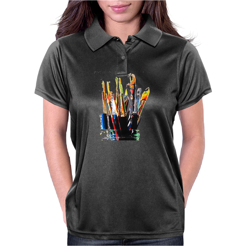 paint brushes 1 Womens Polo