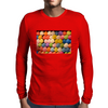Painted Carnival Balloons from Balloon Dart Game on Carnival Midway Mens Long Sleeve T-Shirt