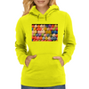 Painted Carnival Balloons from Balloon Dart Game on Carnival Midway Womens Hoodie