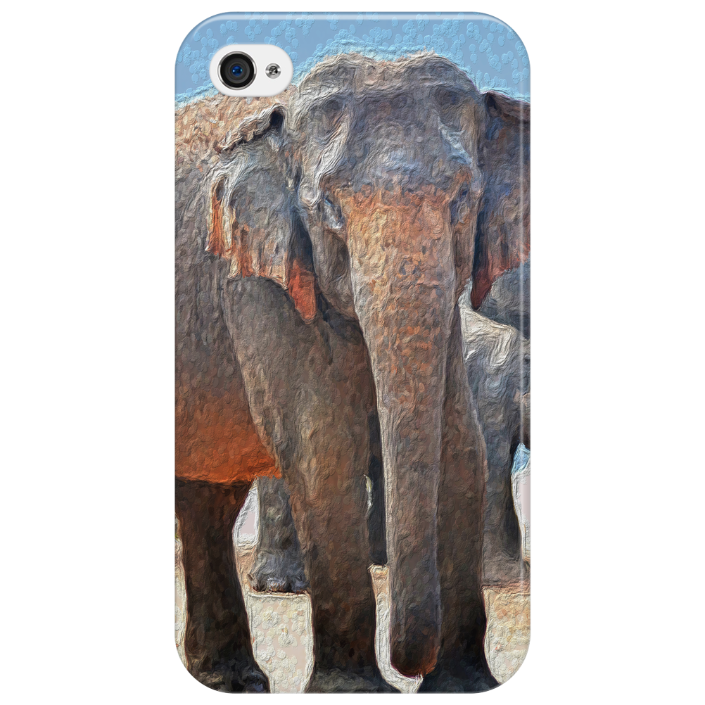 Painted Elephant in the Desert Phone Case