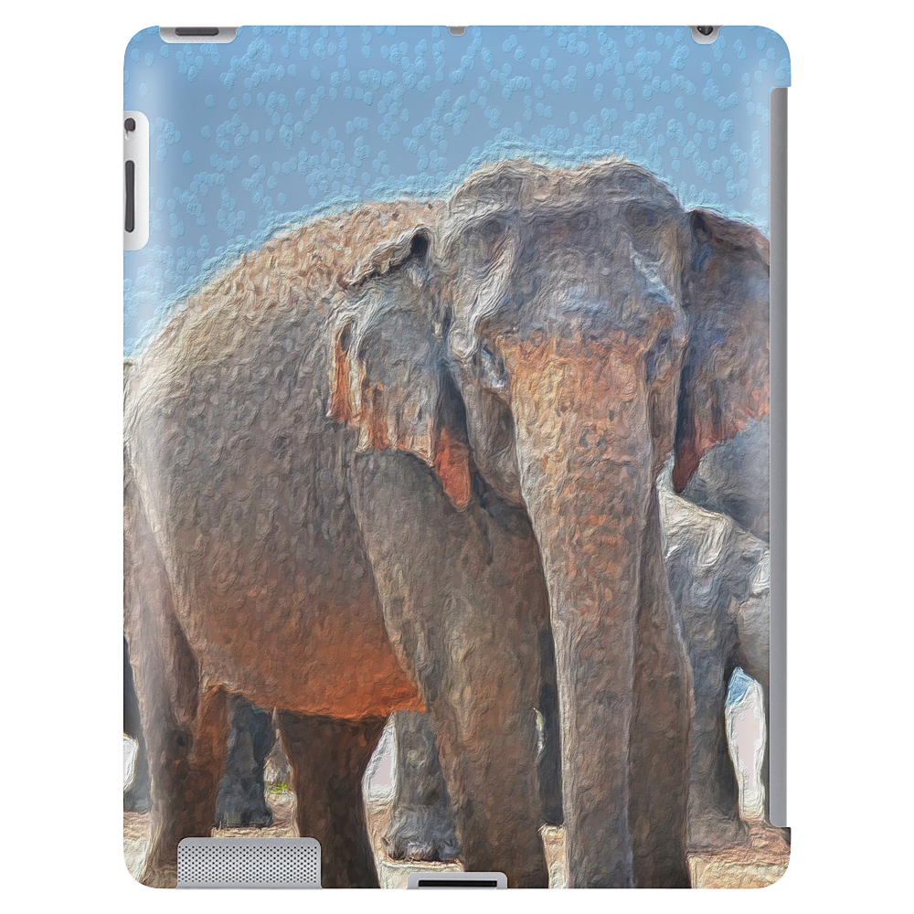 Painted Elephant in the Desert Tablet