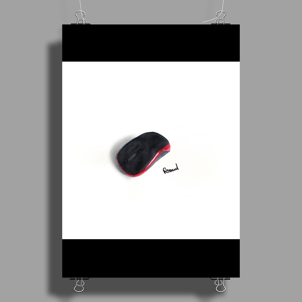 Painted mouse Poster Print (Portrait)