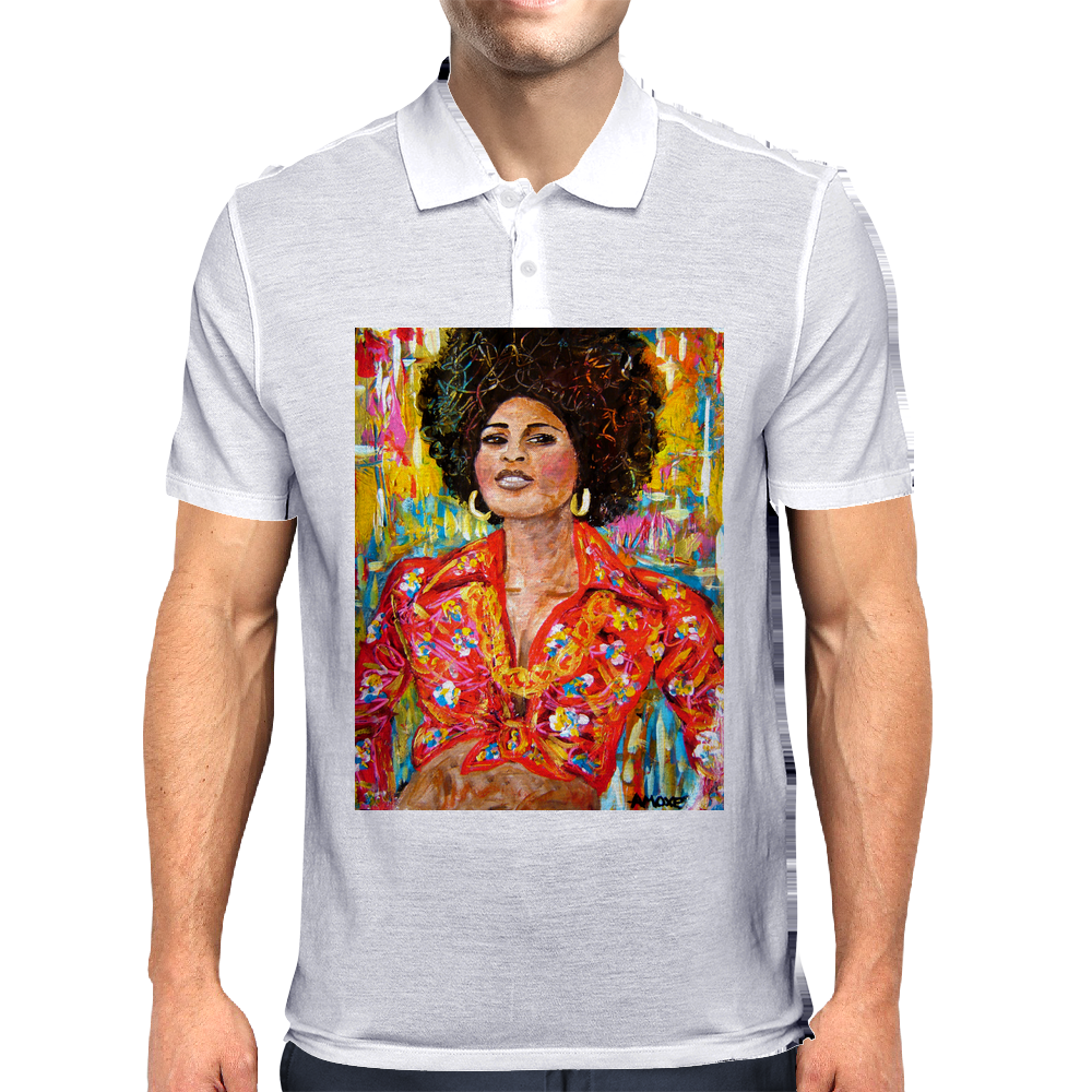 Pam Grier Mens Polo