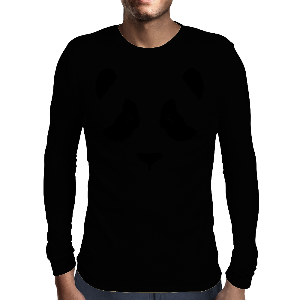 Panda Bear's black part Mens Long Sleeve T-Shirt