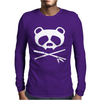 Panda Vampire Skull Mens Long Sleeve T-Shirt