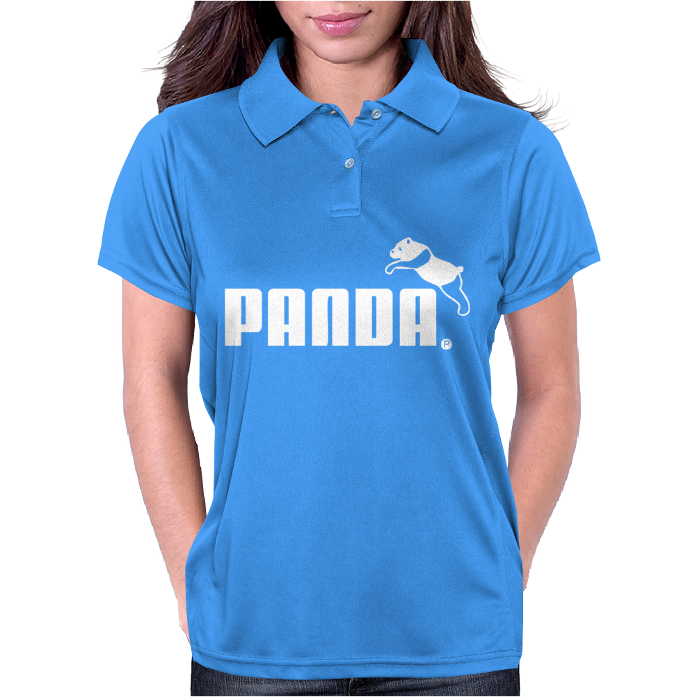 PANDA™ - Puma brand logo parody Asian animal cute bear funny gift tee Womens Polo