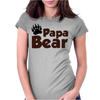 Papa Bear Womens Fitted T-Shirt