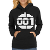 Paradroid Retro Commodore 64 8 Bit Gamer Womens Hoodie