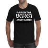 Parental Advisory Angry Gamer Mens T-Shirt