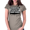 Parental Advisory Angry Gamer Womens Fitted T-Shirt