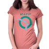 Paris Metro Ratp Subway Graffiti Womens Fitted T-Shirt