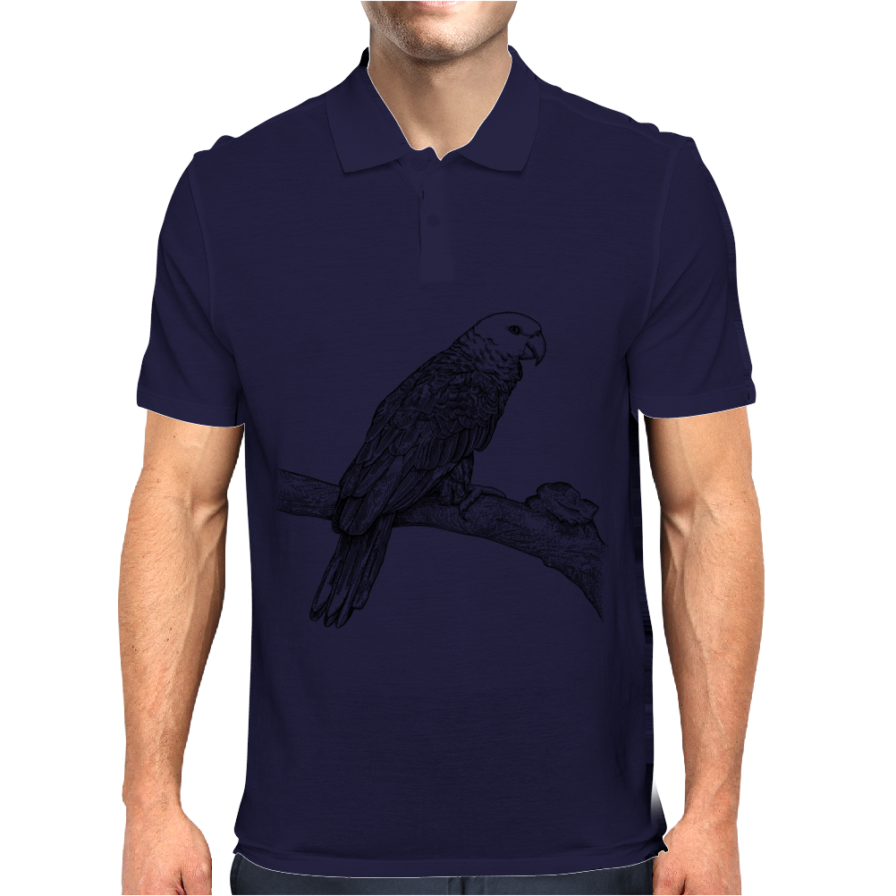 Parrot illustration Mens Polo