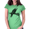 Parrot illustration Womens Fitted T-Shirt