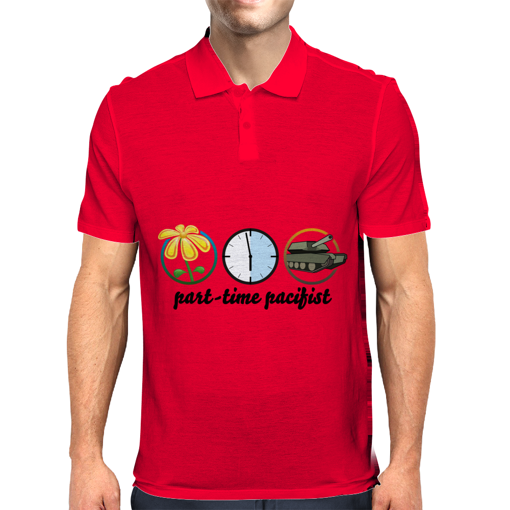 part-time pacifist Mens Polo