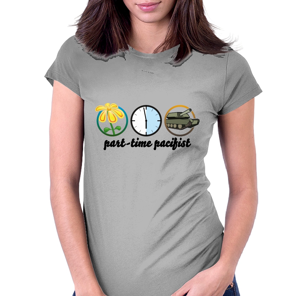 part-time pacifist Womens Fitted T-Shirt
