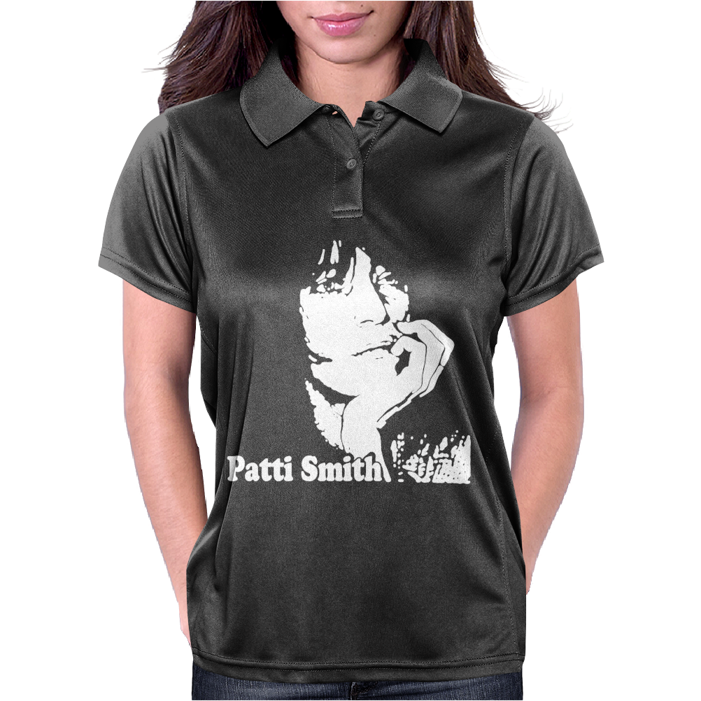 Patti Smith Punk Retro Womens Polo
