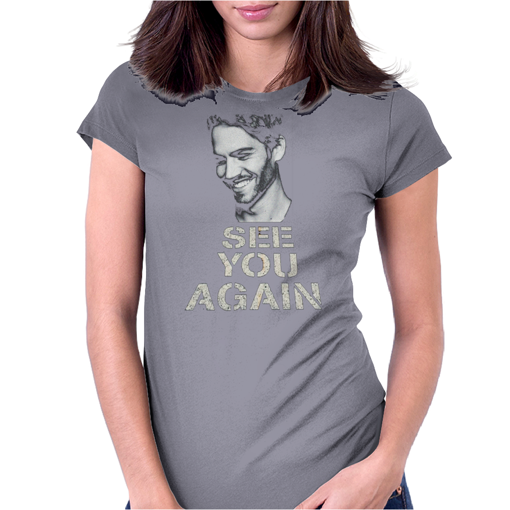 Paul Walker See you Again Womens Fitted T-Shirt