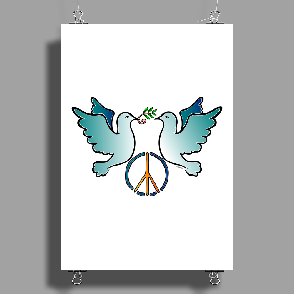 Peace and Love Poster Print (Portrait)