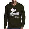 Peace And Music Guitar Hippie Mens Hoodie
