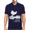 Peace And Music Guitar Hippie Mens Polo