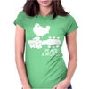 Peace And Music Guitar Hippie Womens Fitted T-Shirt
