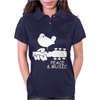 Peace And Music Guitar Hippie Womens Polo
