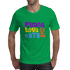 Peace Love and Cats Mens T-Shirt