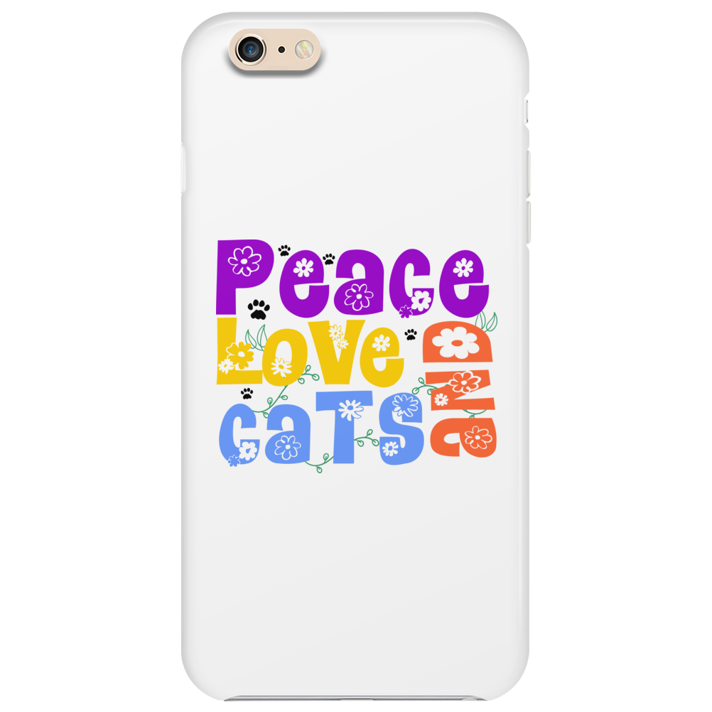 Peace Love and Cats Phone Case