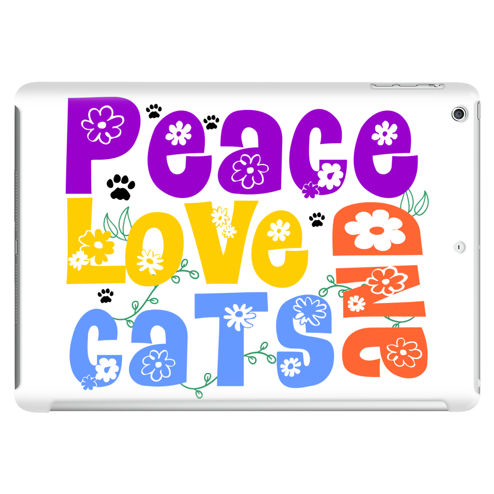 Peace Love and Cats Tablet (horizontal)
