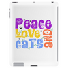 Peace Love and Cats Tablet (vertical)