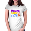 Peace Love and Cats Womens Fitted T-Shirt