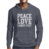 Peace. Love. Sandy Feet. Mens Hoodie