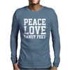 Peace. Love. Sandy Feet. Mens Long Sleeve T-Shirt