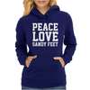 Peace. Love. Sandy Feet. Womens Hoodie