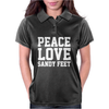 Peace. Love. Sandy Feet. Womens Polo