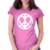 Peace Love Womens Fitted T-Shirt