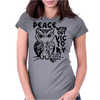 Peace Owl Womens Fitted T-Shirt