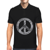 Peace Symbol American Apparel Mens Polo