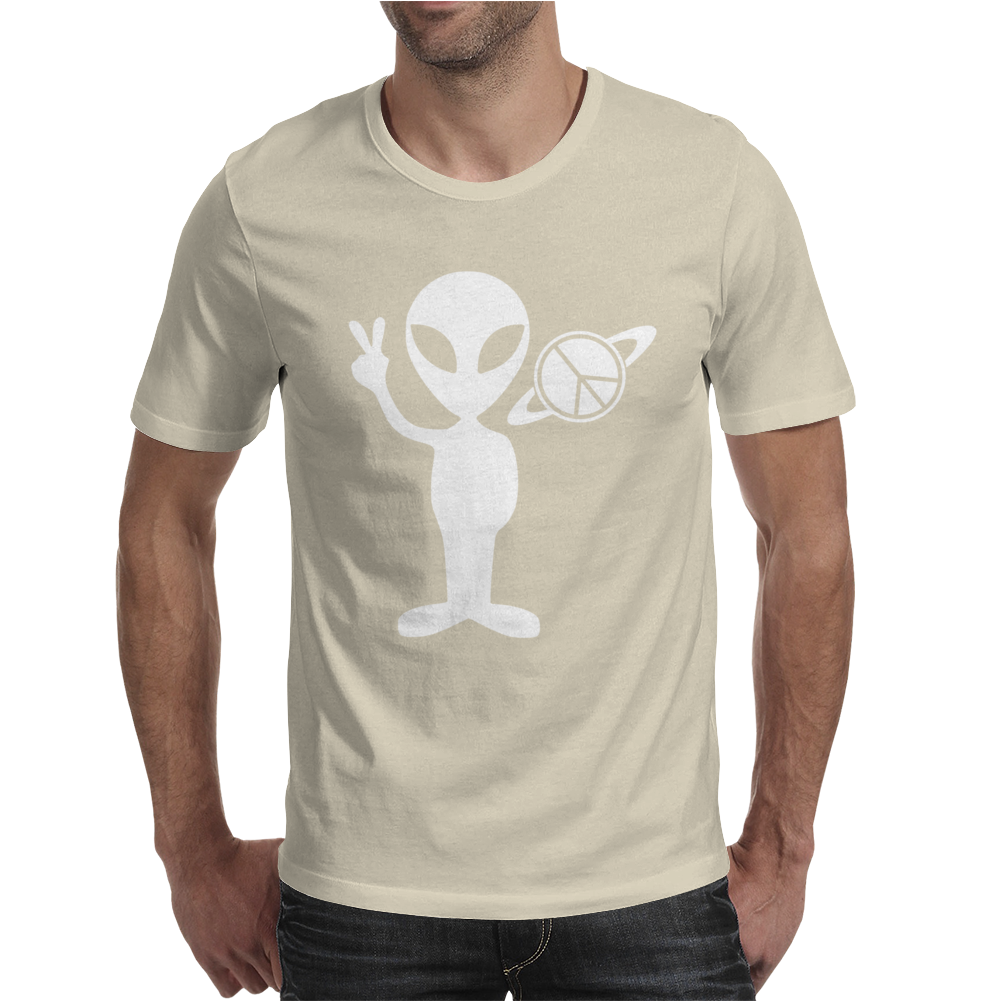 Peaceful Alien Mens T-Shirt